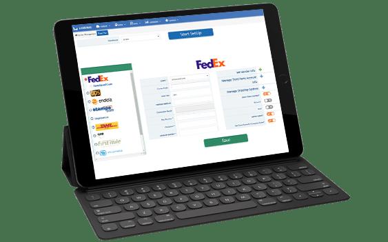 shipping software - screen